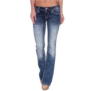 Rock Revival Distressed BootCut Jeans Size 26 6405